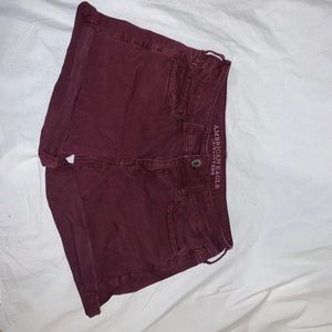 Maroon Super Stretch Midi Shorts